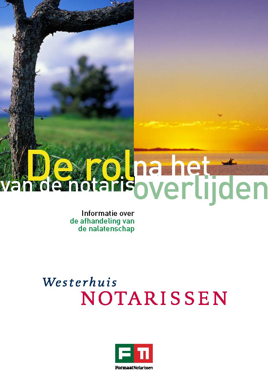 Brochure rol notaris na overlijden