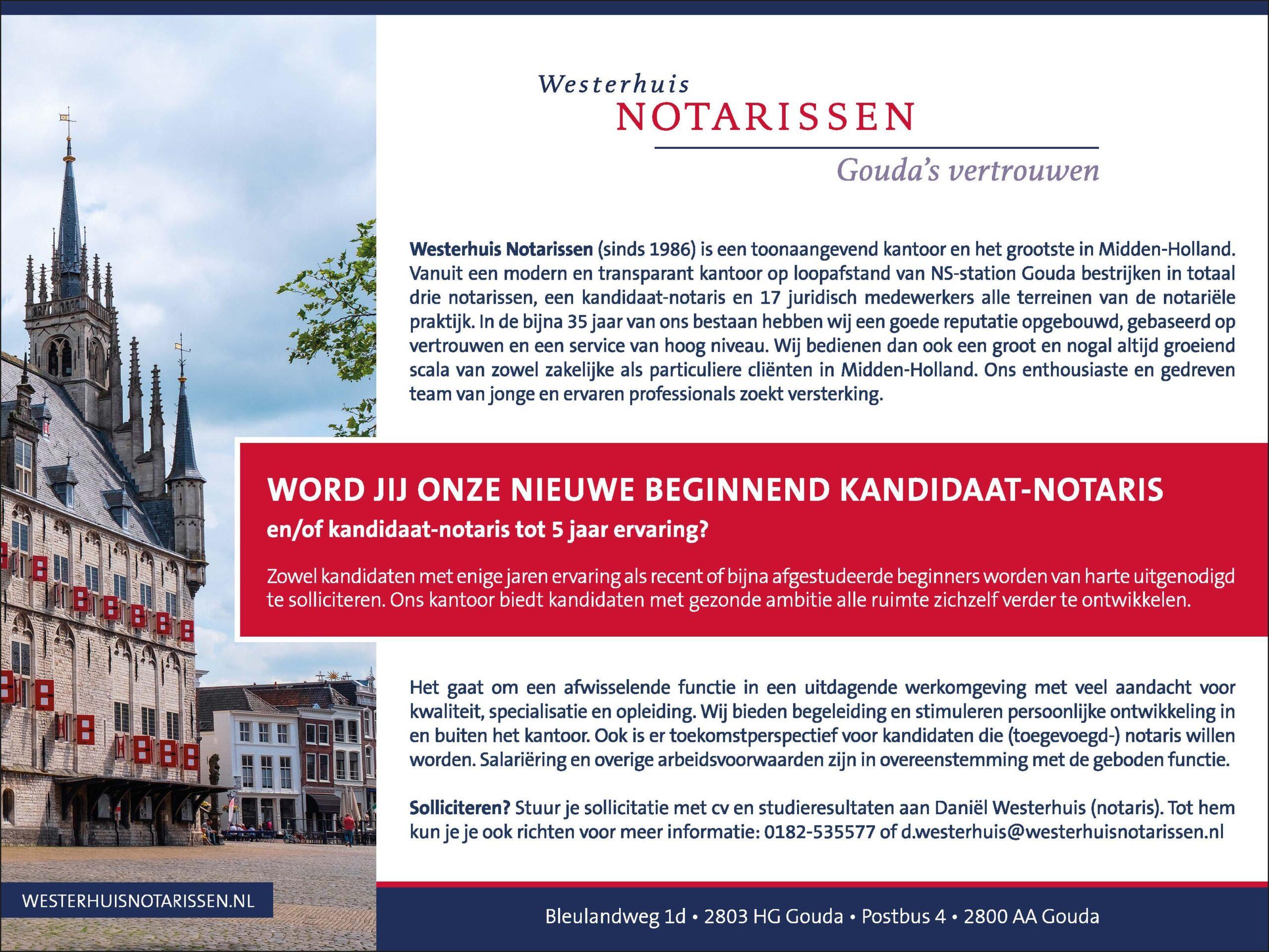 Werken als kandidaat-notaris?